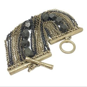 Kenneth Cole Oxidized & Gold tone bracelet toggle